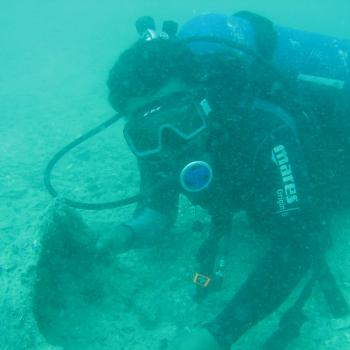 Ceramic shards found on the Belitung wreck site