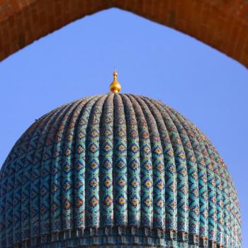Guri Amir mausoleum of the Asian conqueror Tamerlane