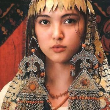 Kyrgyz woman, traditional costume