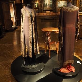 Silk dresses at the Silk Museum in Venice