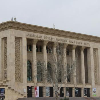 Theatre in Centre of Baku City
