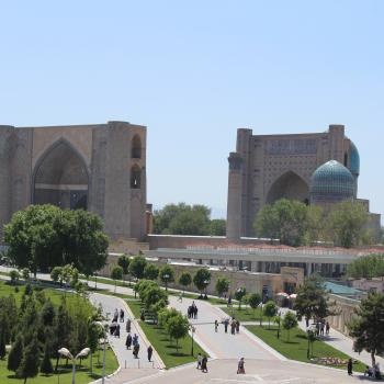 View of the Bibi Khanym Mosque, Samarkand